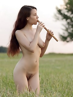 Nude body outdoors