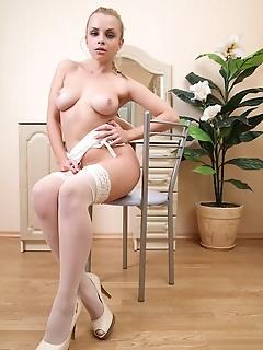Tempting hottie posing