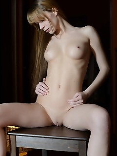 Naked on the chair