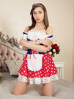 Cutie in polka dot skirt